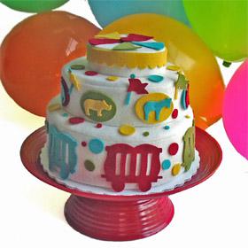 Felt food carnival cake