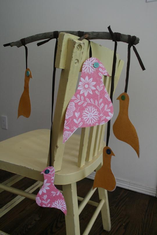 Bird mobile paper