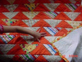 Flock of triangles orange