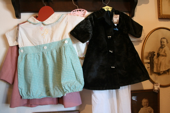 Two women kid clothes