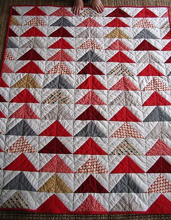 Flock of triangles red
