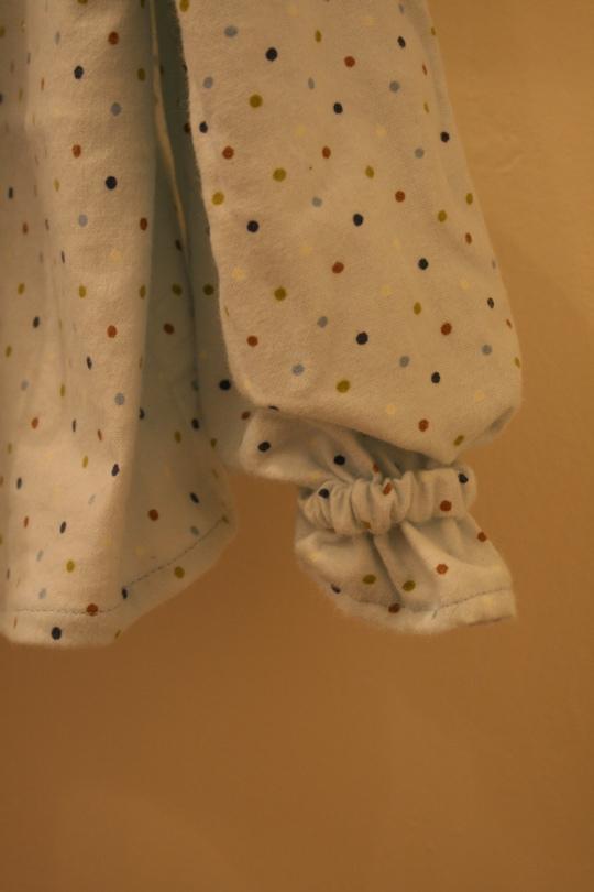 Blue flannel shirt sleeve