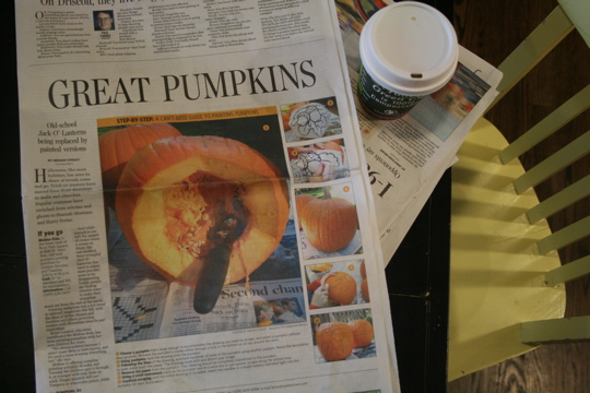 Pumpkin newspaper