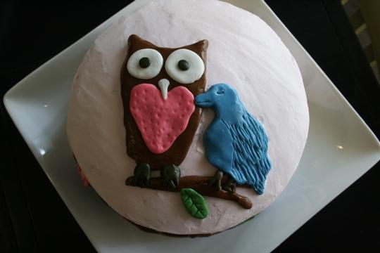 Owl cake top