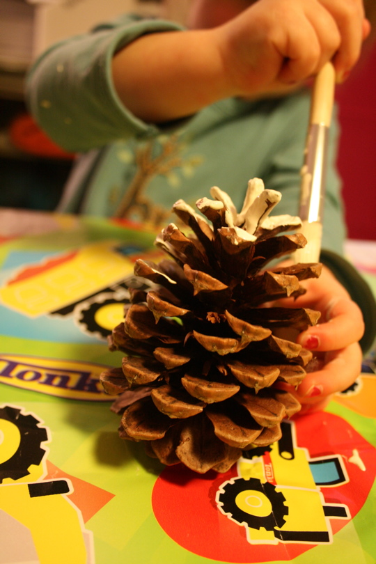 Pinecone painting