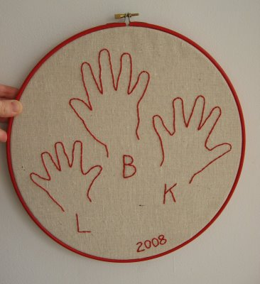 Hand embroidery plum pudding