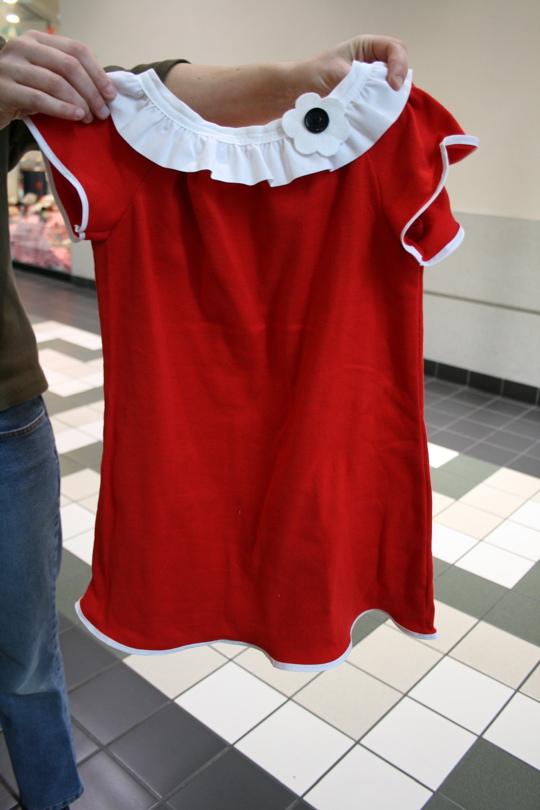 Red annie dress