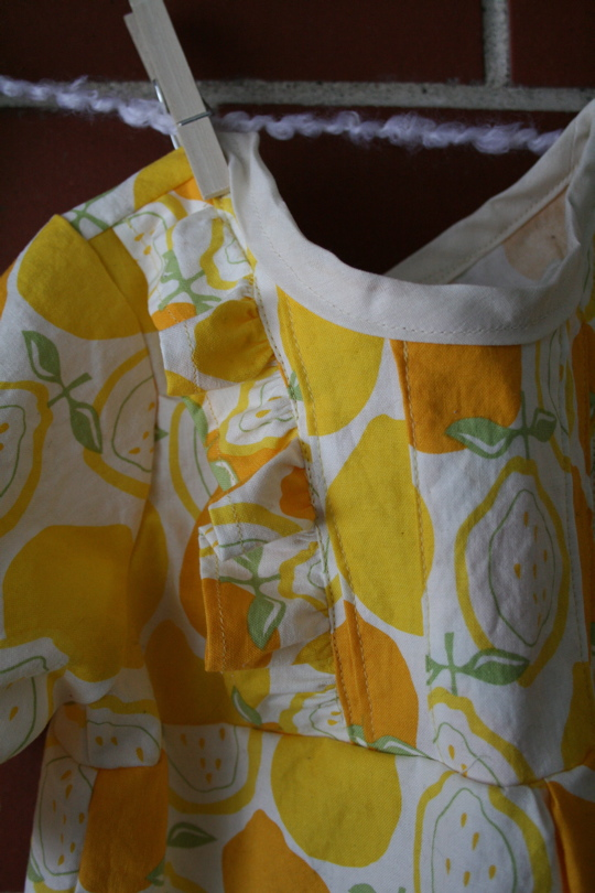 Lemon dress detail