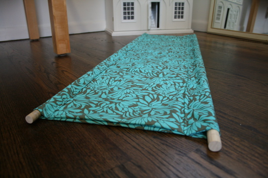 How To Hang Fabric On Walls tutorial: hanging book display - penny carnival