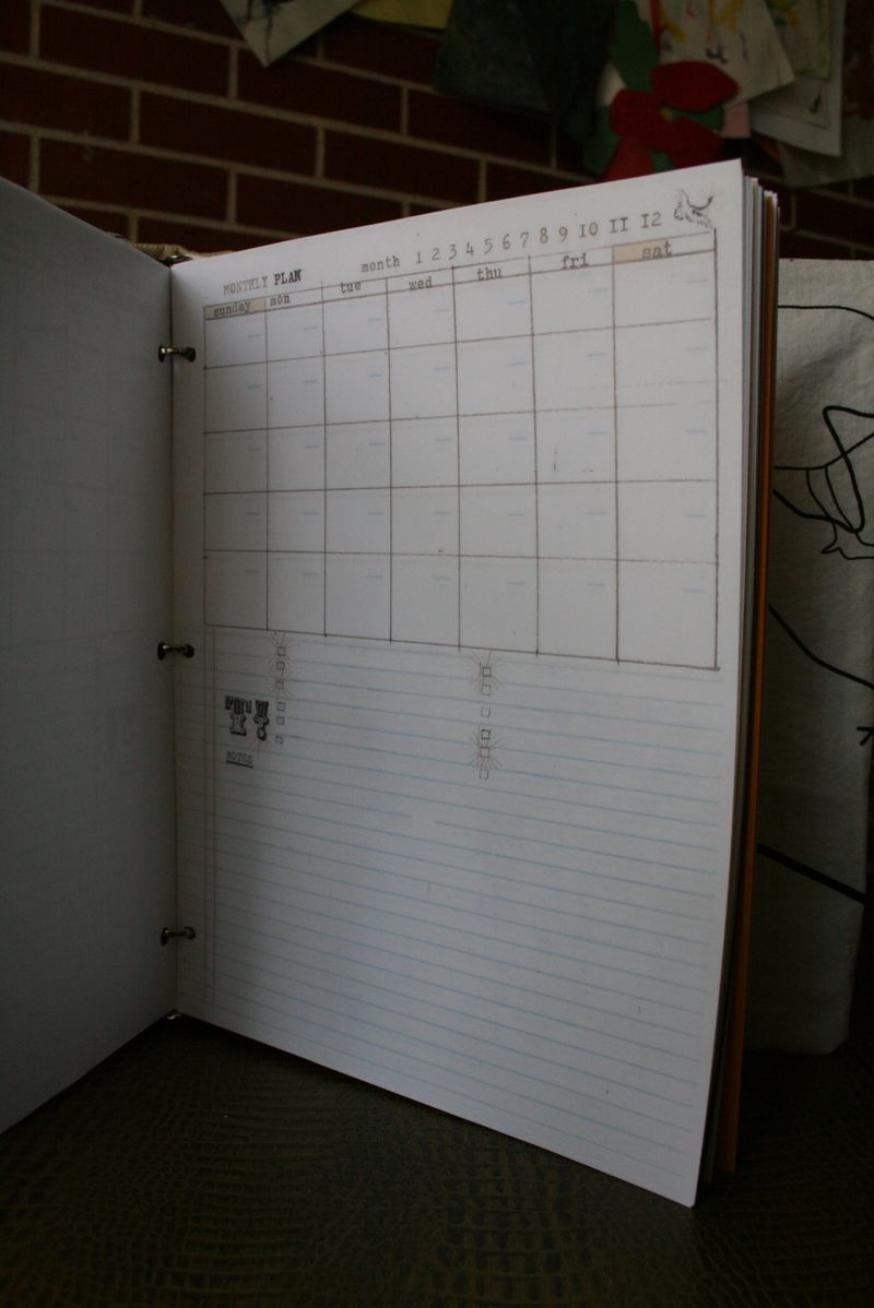 Day planner pages