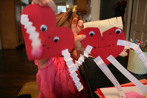 Hugging heart craft kid