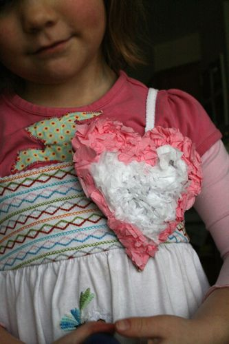 Heart badge tissue done