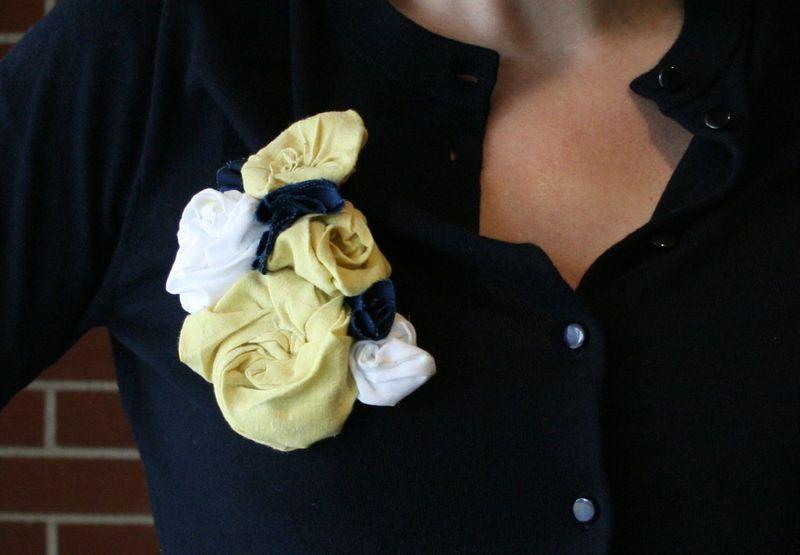 Fabric flower close
