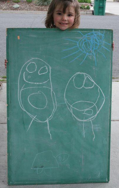 Bo's chalkboard emotions