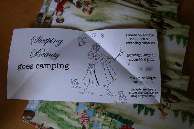 Camping invitation 4