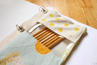 Handmade binder pouch