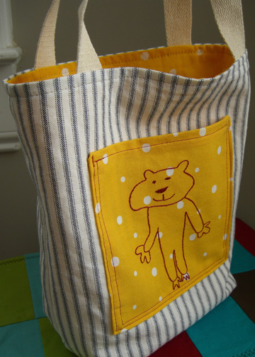 Tote-bag the long thread