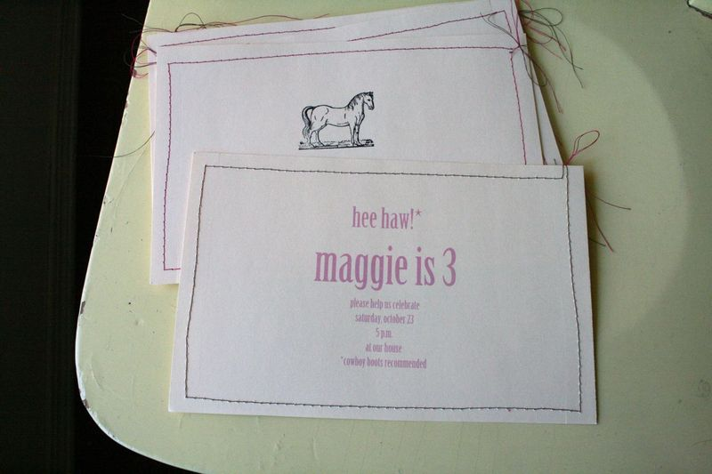 Pc horse party invitations