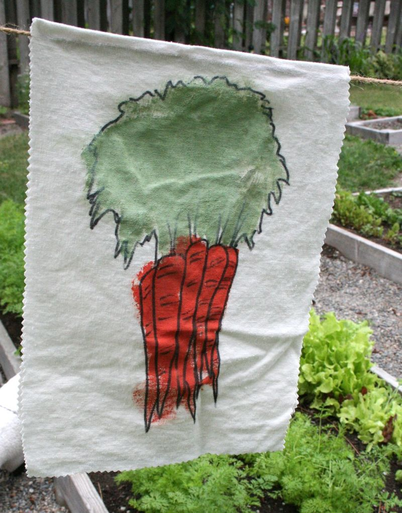Garden banner carrot