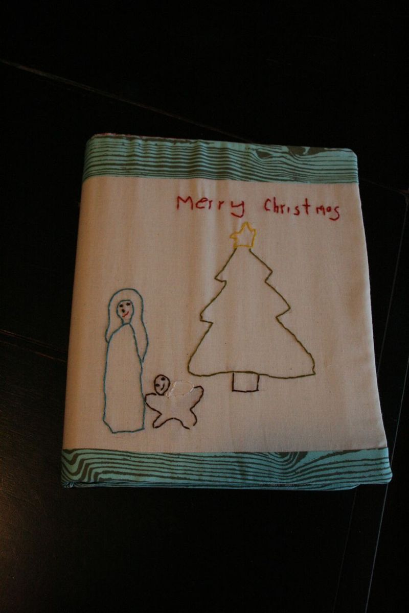 Christmas journal embroidery