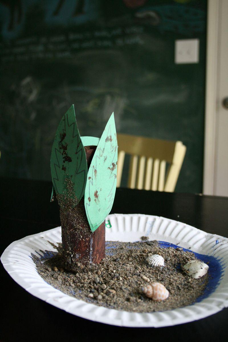 Paper plate beach craft