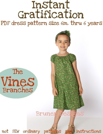 Instant gratification dress vines branches