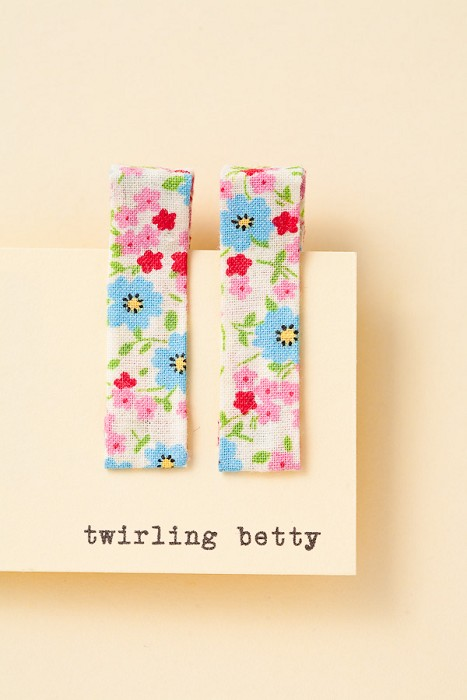 Twirling betty hair clips