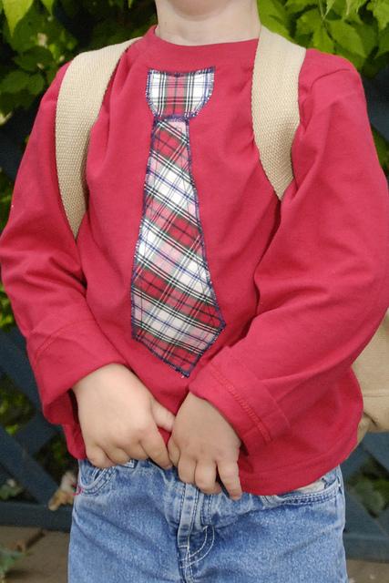 Riddle fam necktie shirt