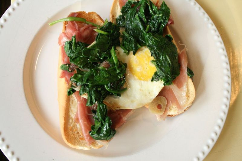 Proscuitto and egg