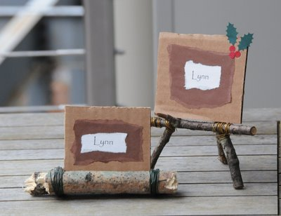 Twig placecard holder