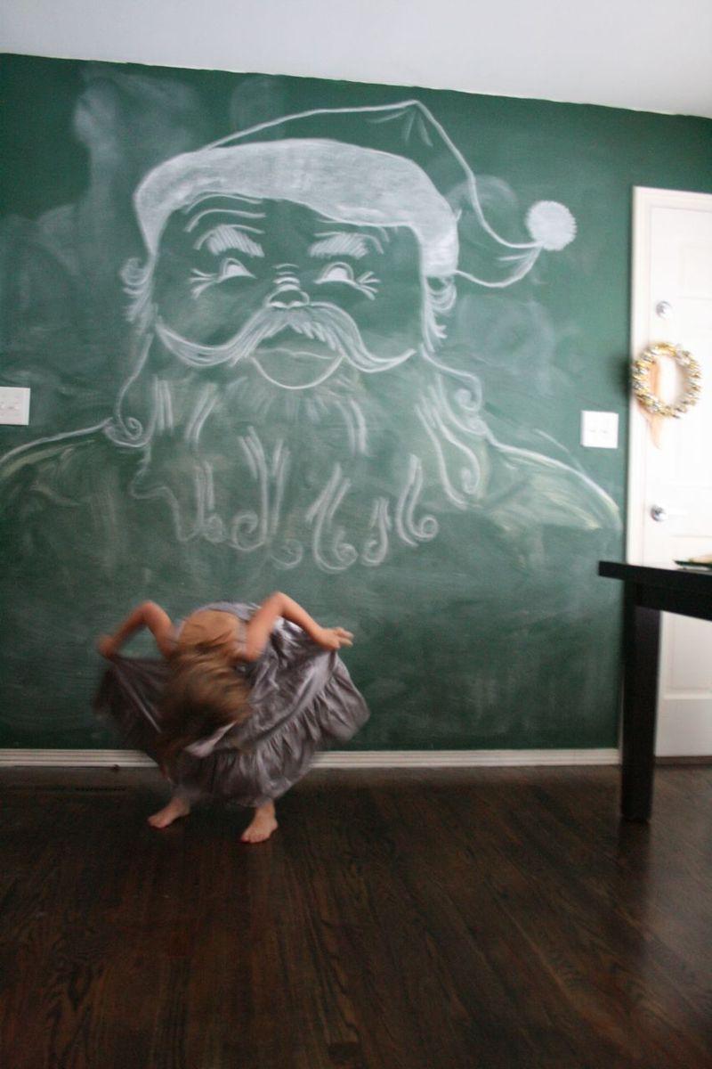 Chalkboard wall santa 3