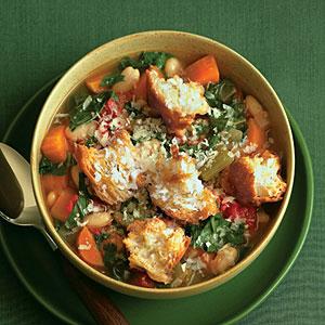 Sunset tomato bread soup
